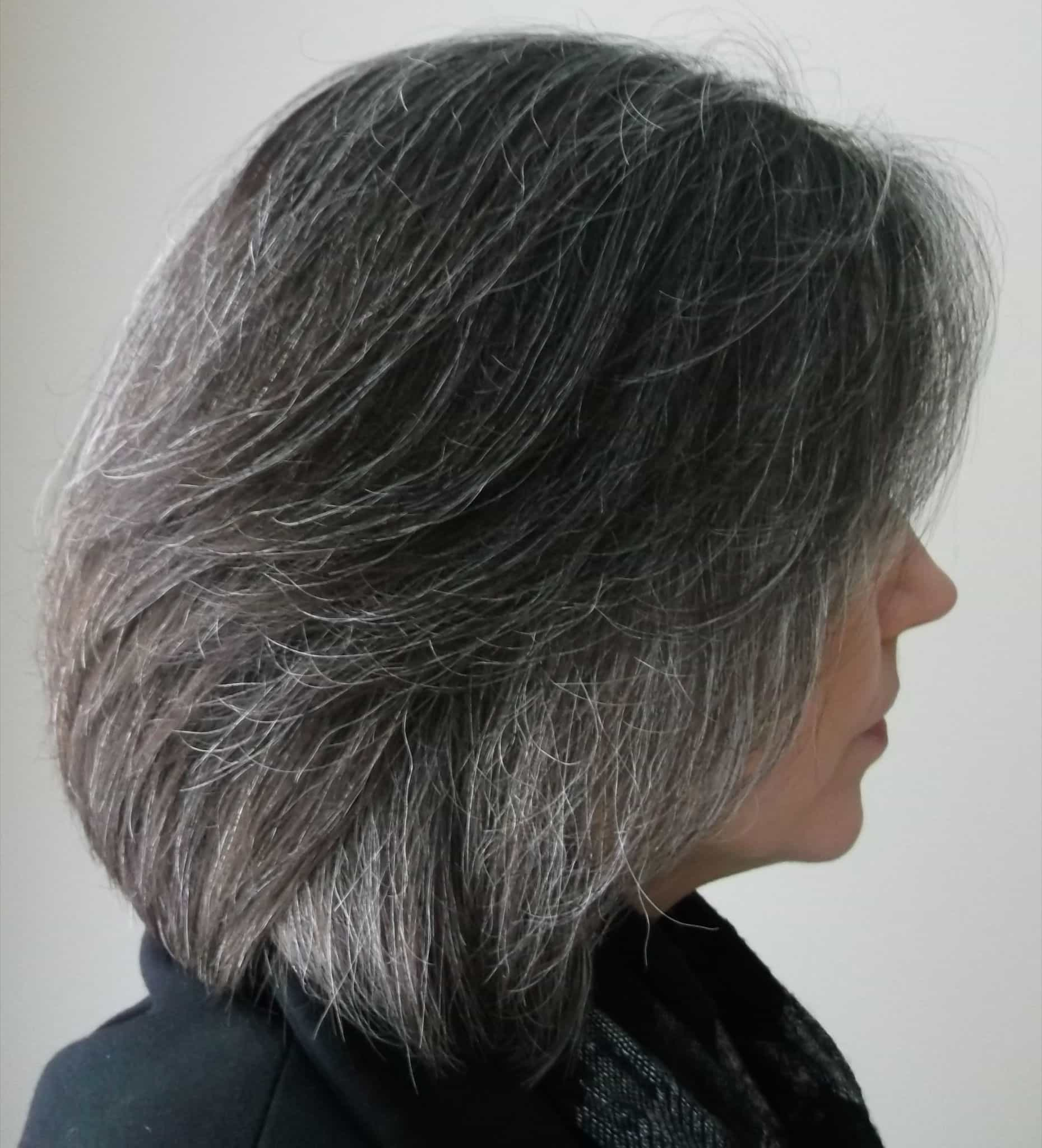 Going Gray Gracefully From Brunette Hairstyle Gallery