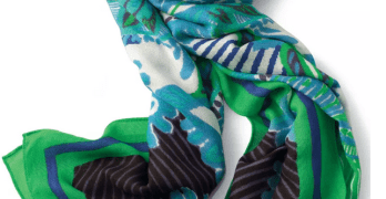 Silver, Gray and Glam: Eight Summer Scarves That Add a Pop!